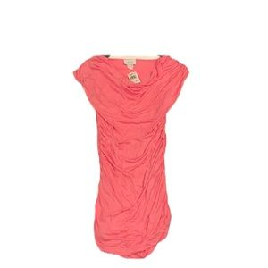 CHESLEY  Sheer Pink Ruched Bodycon Dress!! NWT!